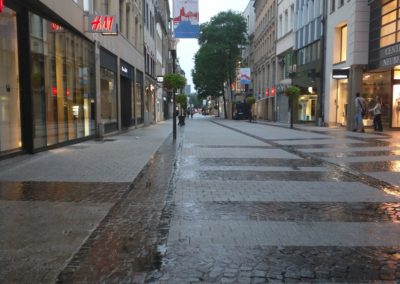 Luxembourg City Street on a Rainy Day