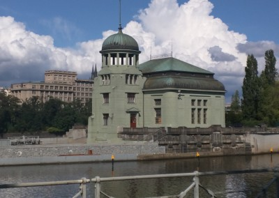 Prague - water power station on water