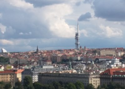 Prague Skyline Looking at the TV Tower