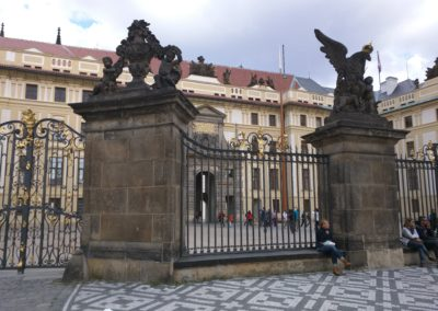 Outside the Gates of Prague Castle
