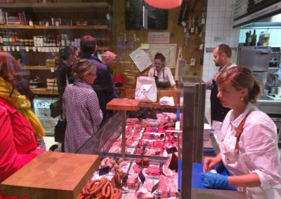 Through the Window of a Prague Butchery