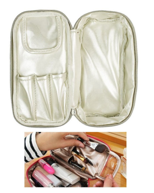 Double-Sided Cosmetic Fabric Toiletry and Jewelry Bag Travel Organizer